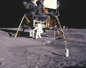 Lunar Lander On Moon